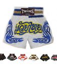 Twins Special Muay Thai Shorts T11 White:Blue