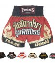 Twins Special Muay Thai Shorts T21 Lumpini Red:Gold