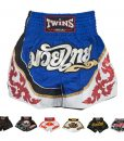 Twins Special Muay Thai Shorts T72 White:Blue