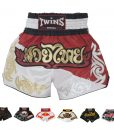 Twins Special Muay Thai Shorts T8 Duo Red:White