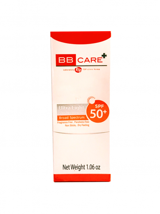 BBCAREUltraLightSunscreenSPF50Front