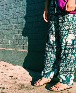 Green Elephant Pants Candid
